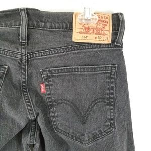 Levi's 514 Black Jeans Sz 32x32 Slim Straight